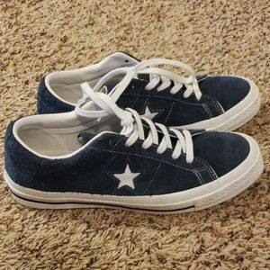 Converse One Star navy suede Size 9, Euro 40